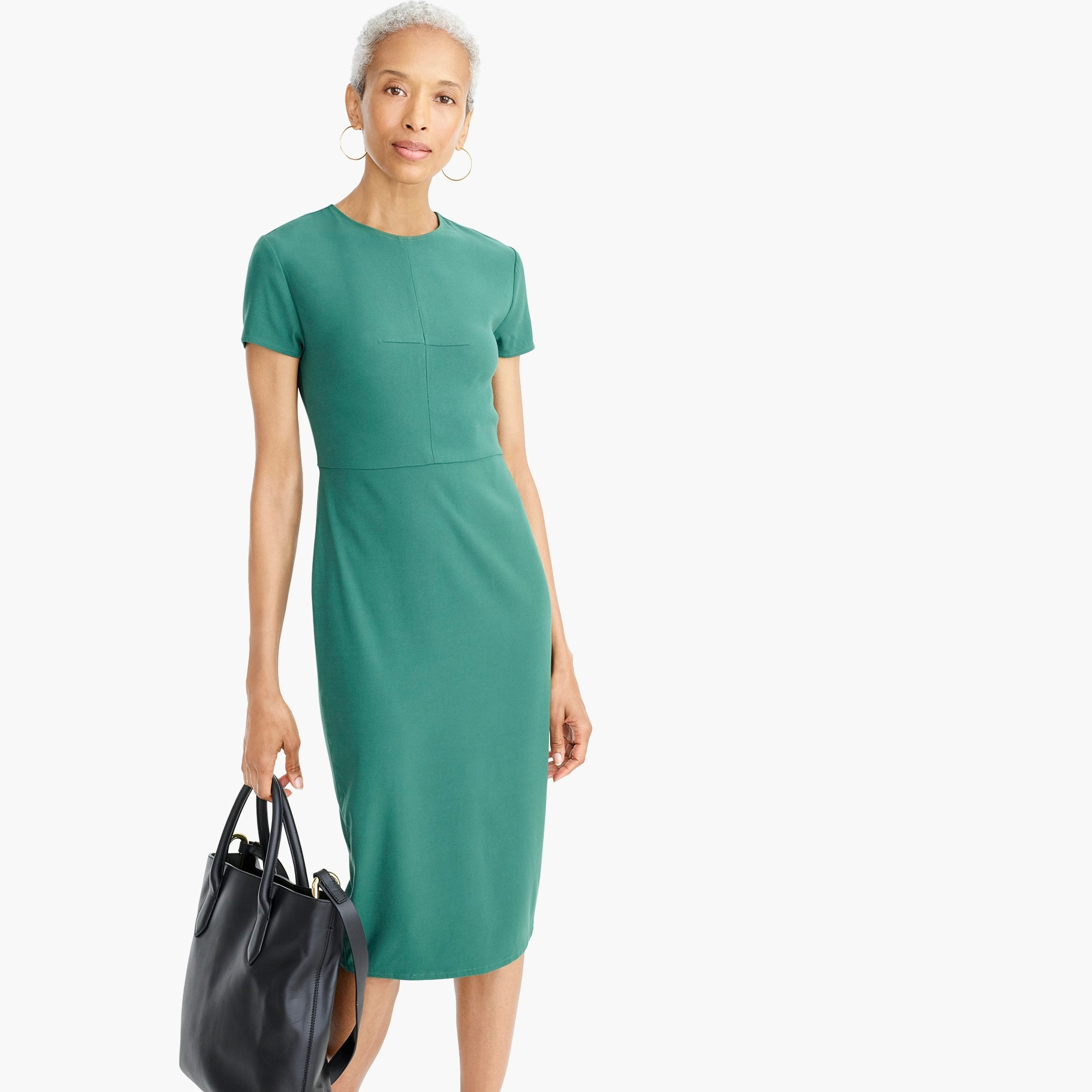 womens Universal Standard for J.Crew stretch twill sheath dress