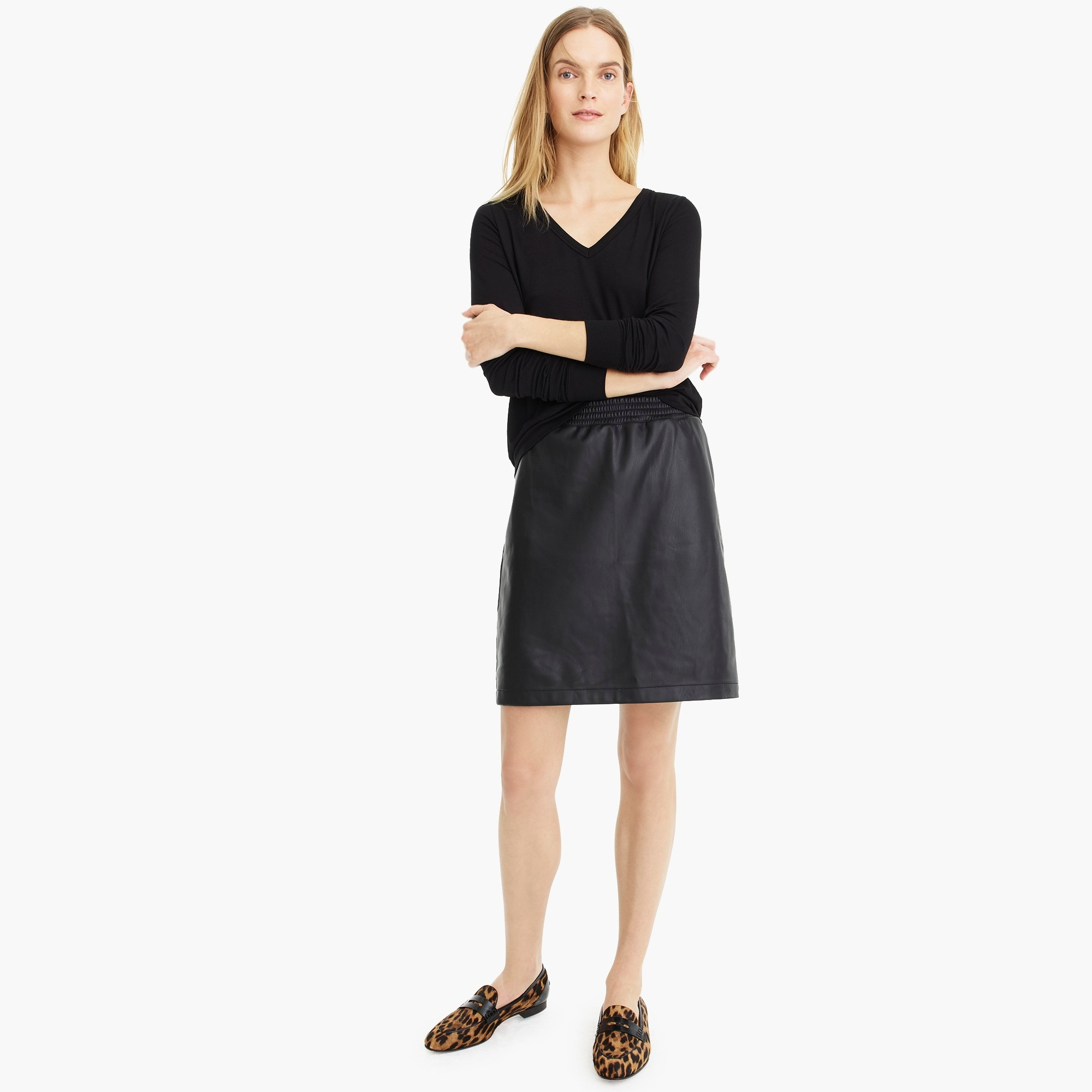 womens Universal Standard for J.Crew faux-leather mini skirt