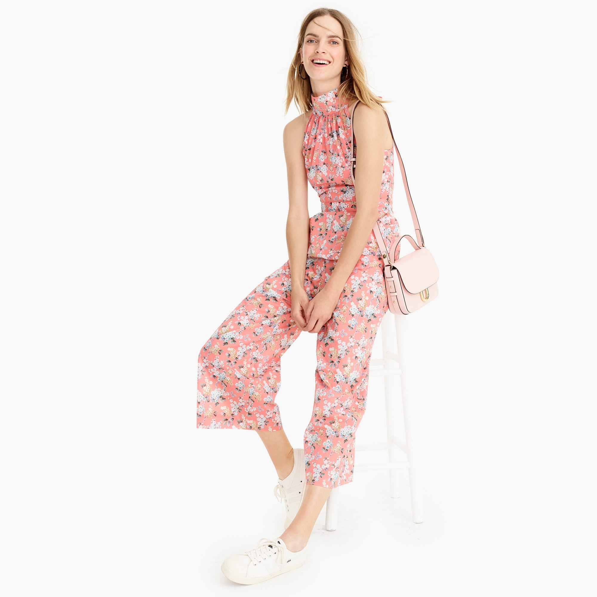 High-neck jumpsuit in Liberty® Josephine floral