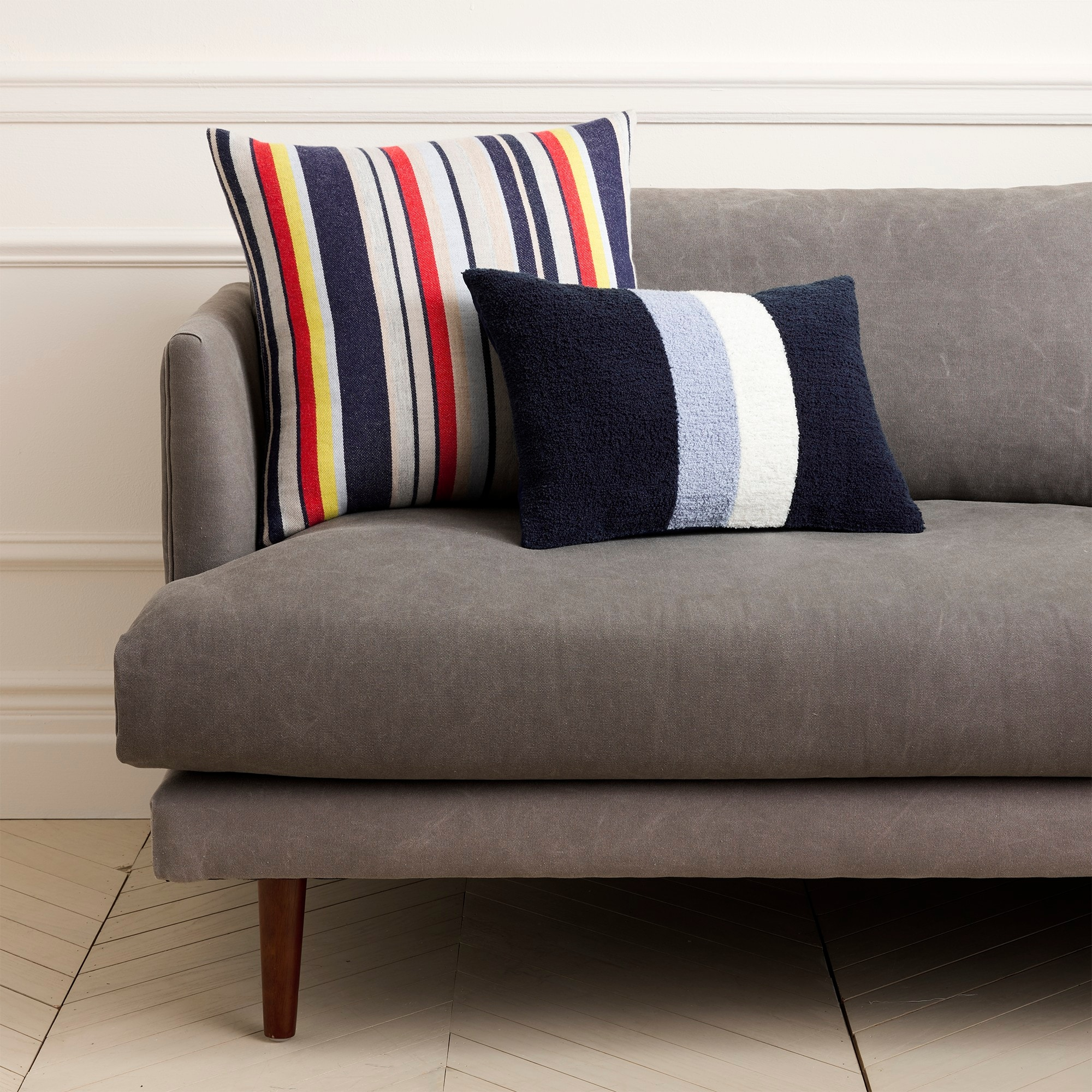 Image 1 for J.Crew Home multistripe pillow
