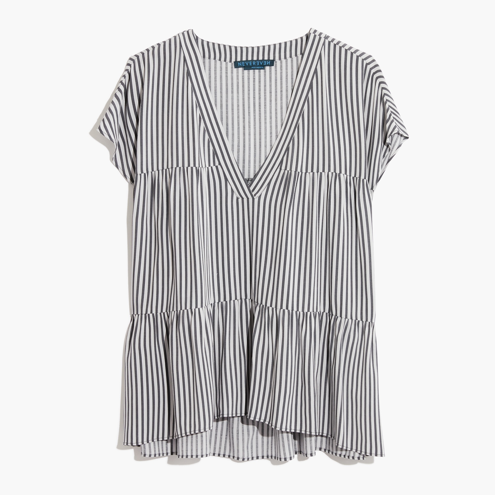 womens Nevereven triple tier top in stripe