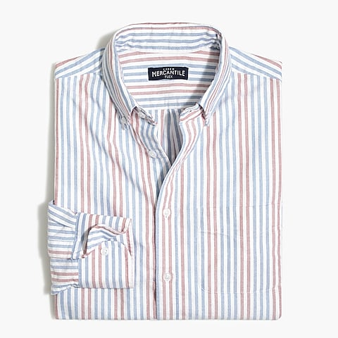 factory mens Slim flex oxford shirt in stripe