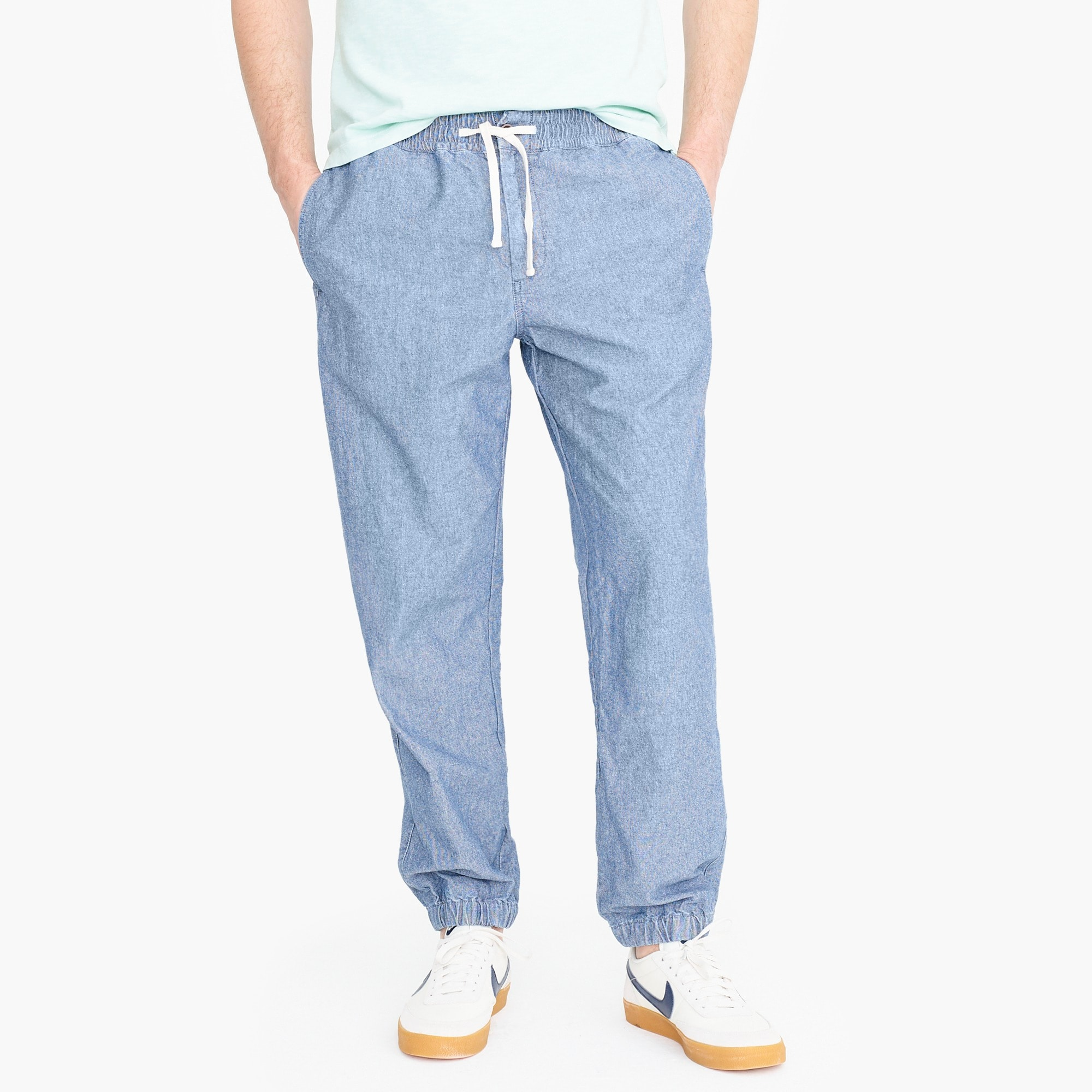 mens Relaxed-fit drawstring pant in indigo chambray