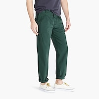 Double-pleated pant in garment-dyed canvas