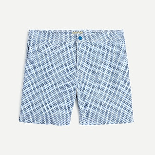 "7"" stretch eco pool short in maze print"