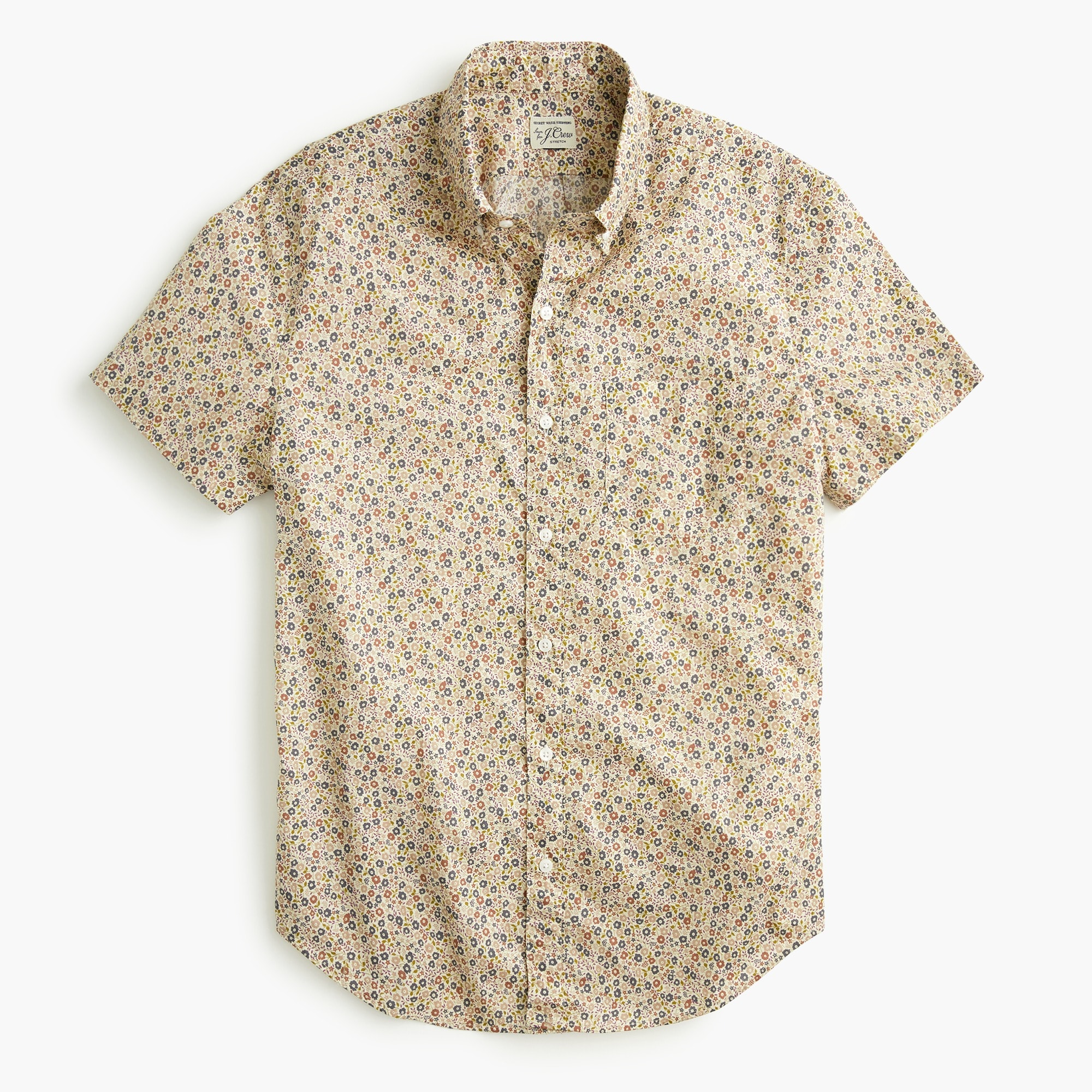 mens Short-sleeve shirt in Liberty® daisy garden print