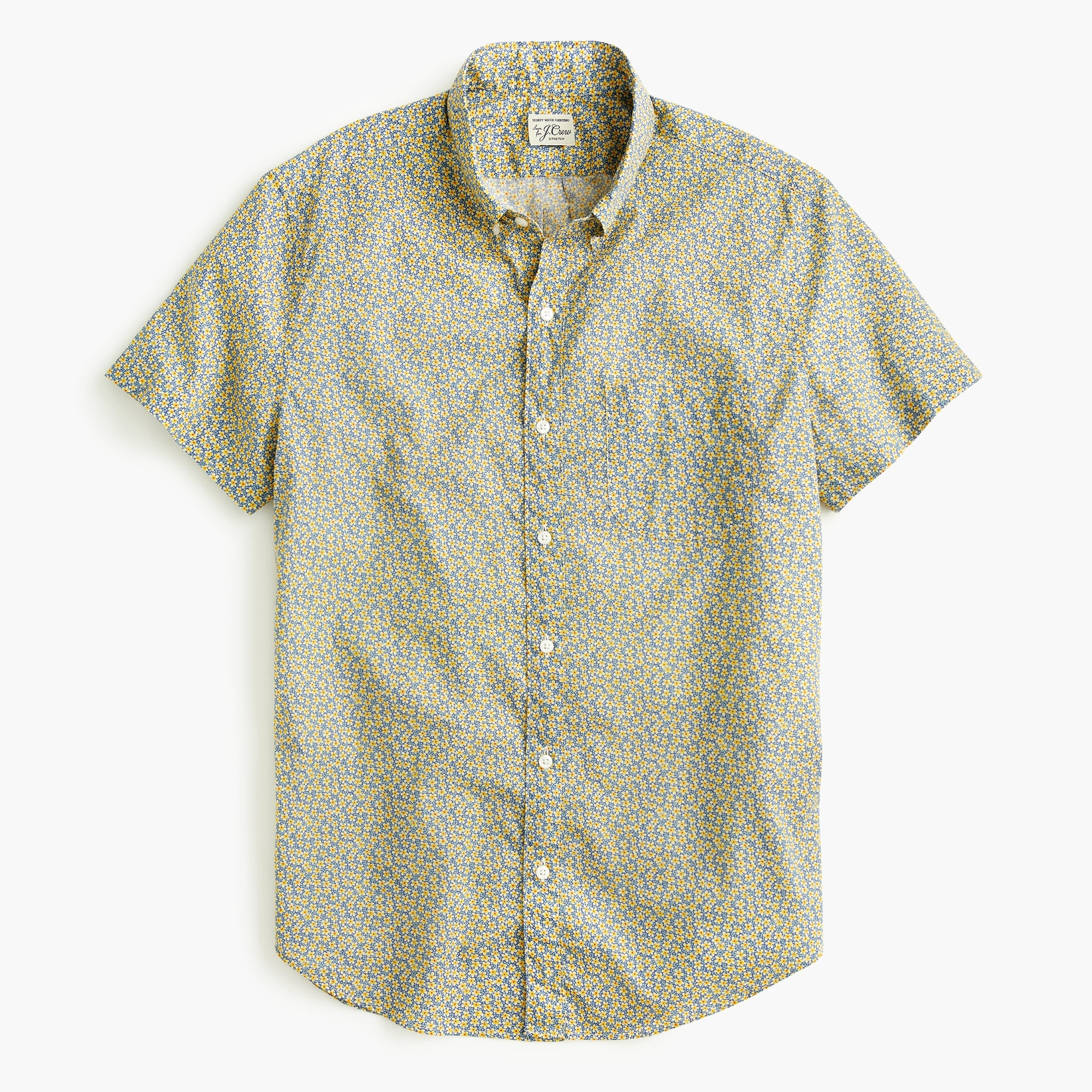 mens Short-sleeve shirt in Liberty® speckle flower print