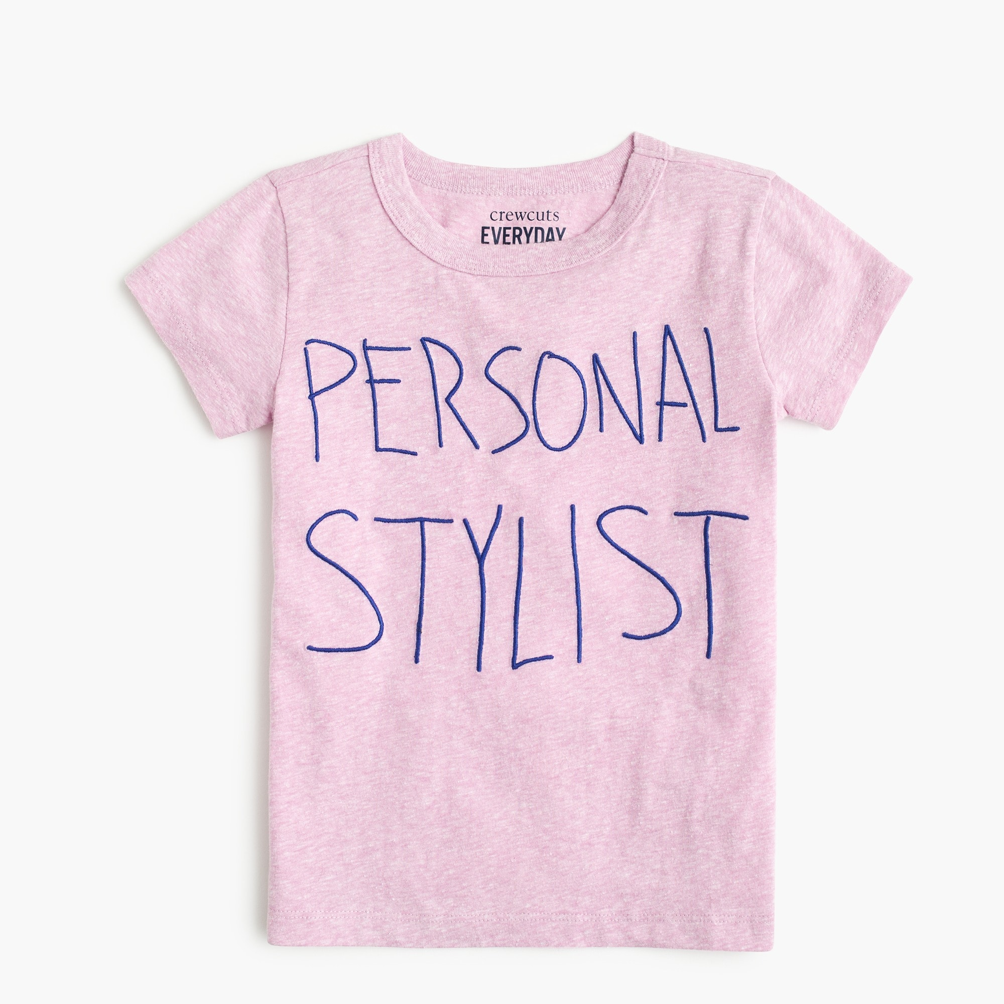"girls Girls' embroidered ""personal stylist"" T-shirt"