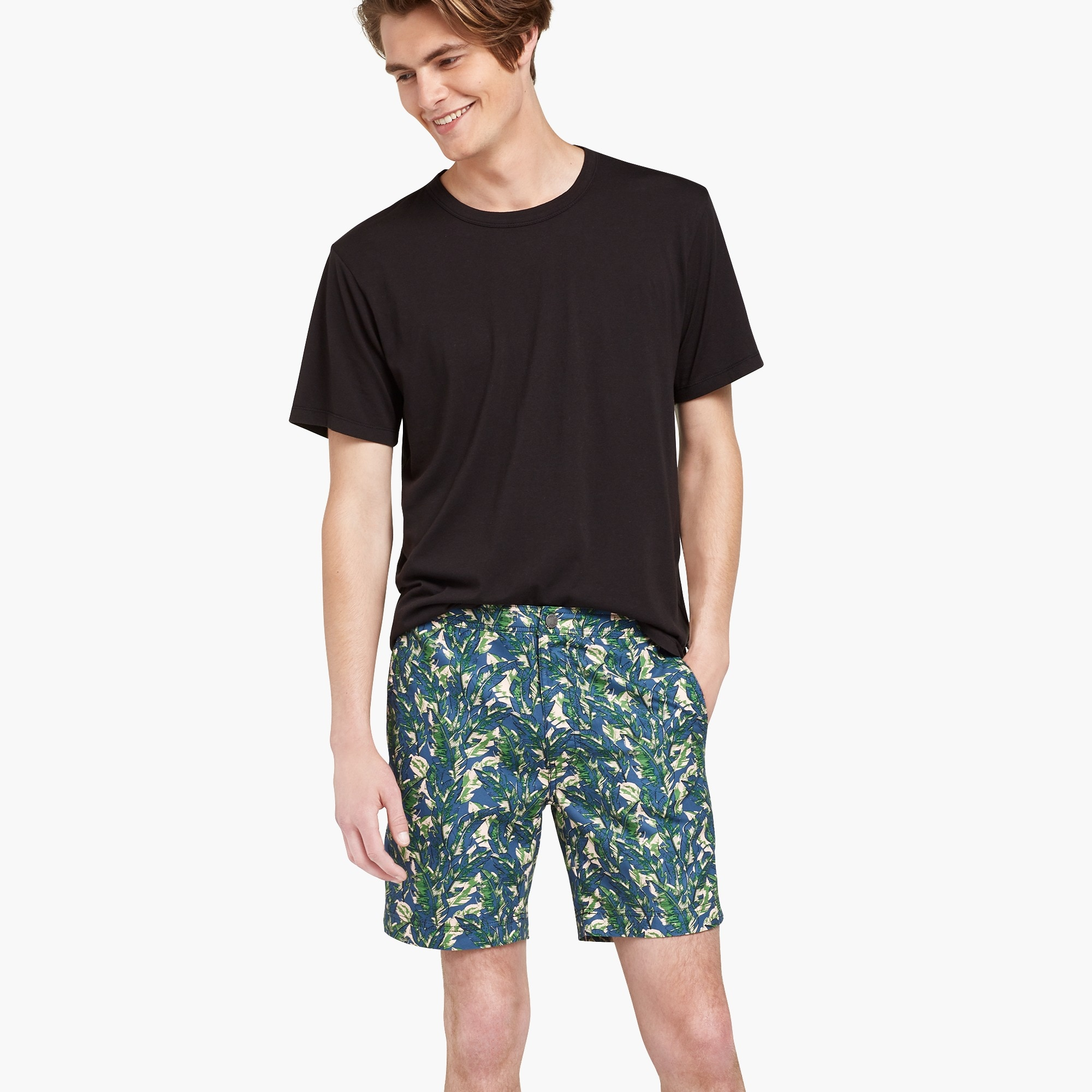 "mens Onia Calder 7.5"" banana leaf swim trunks"