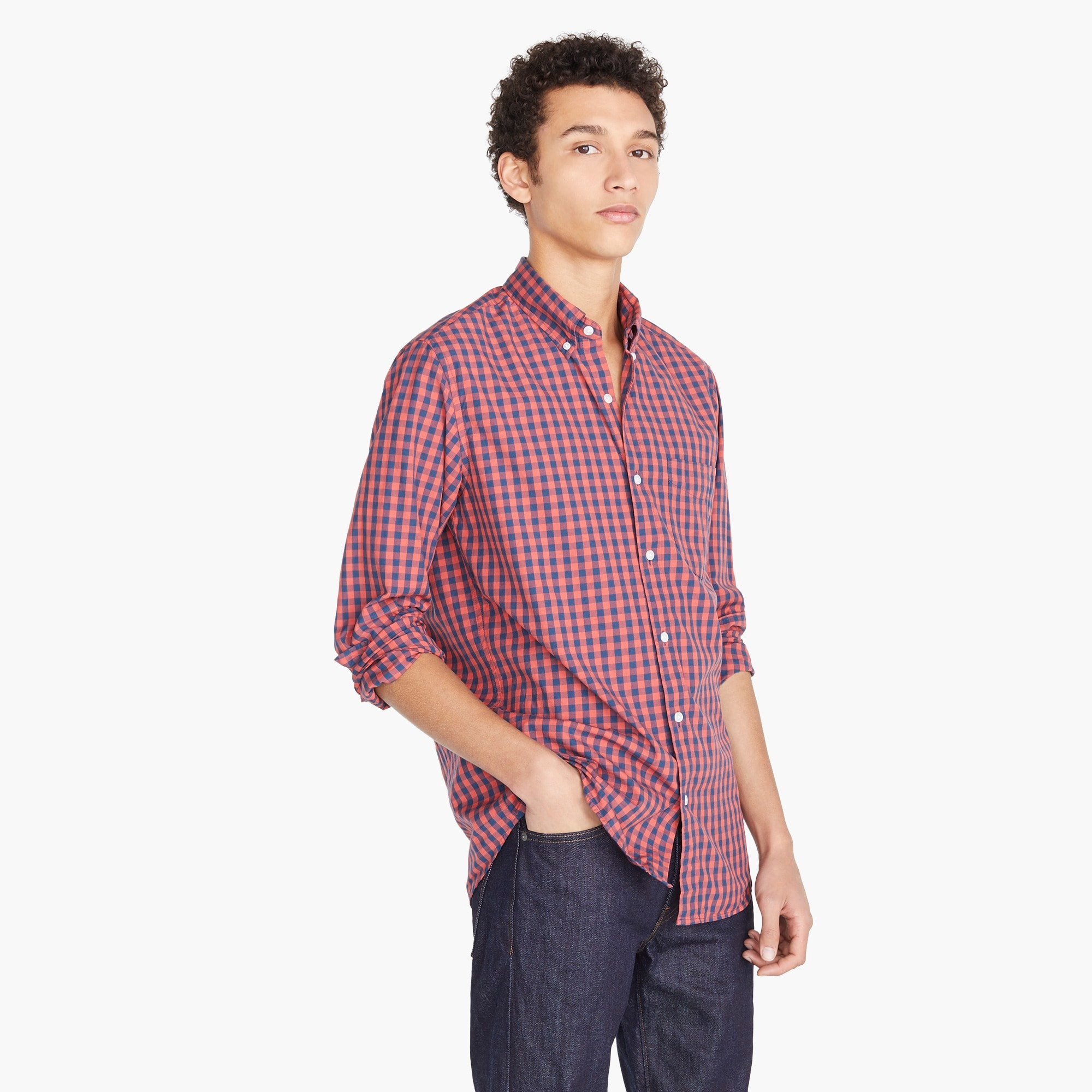 Image 2 for Stretch Secret Wash shirt in primary gingham