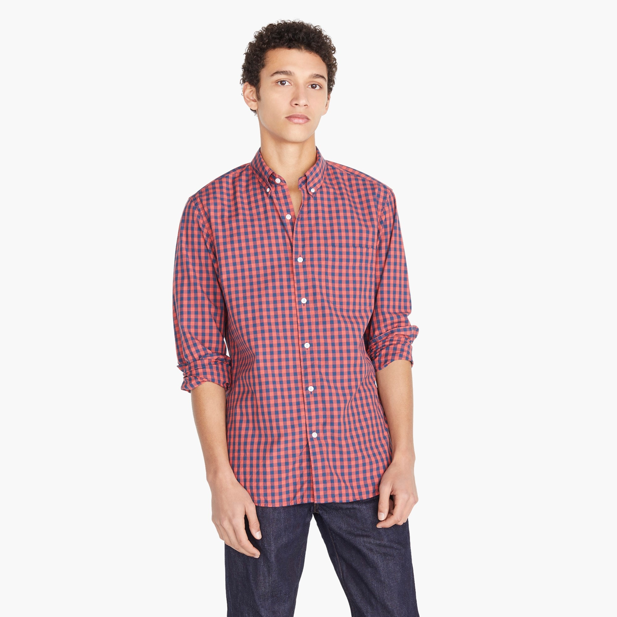 Image 1 for Stretch Secret Wash shirt in primary gingham
