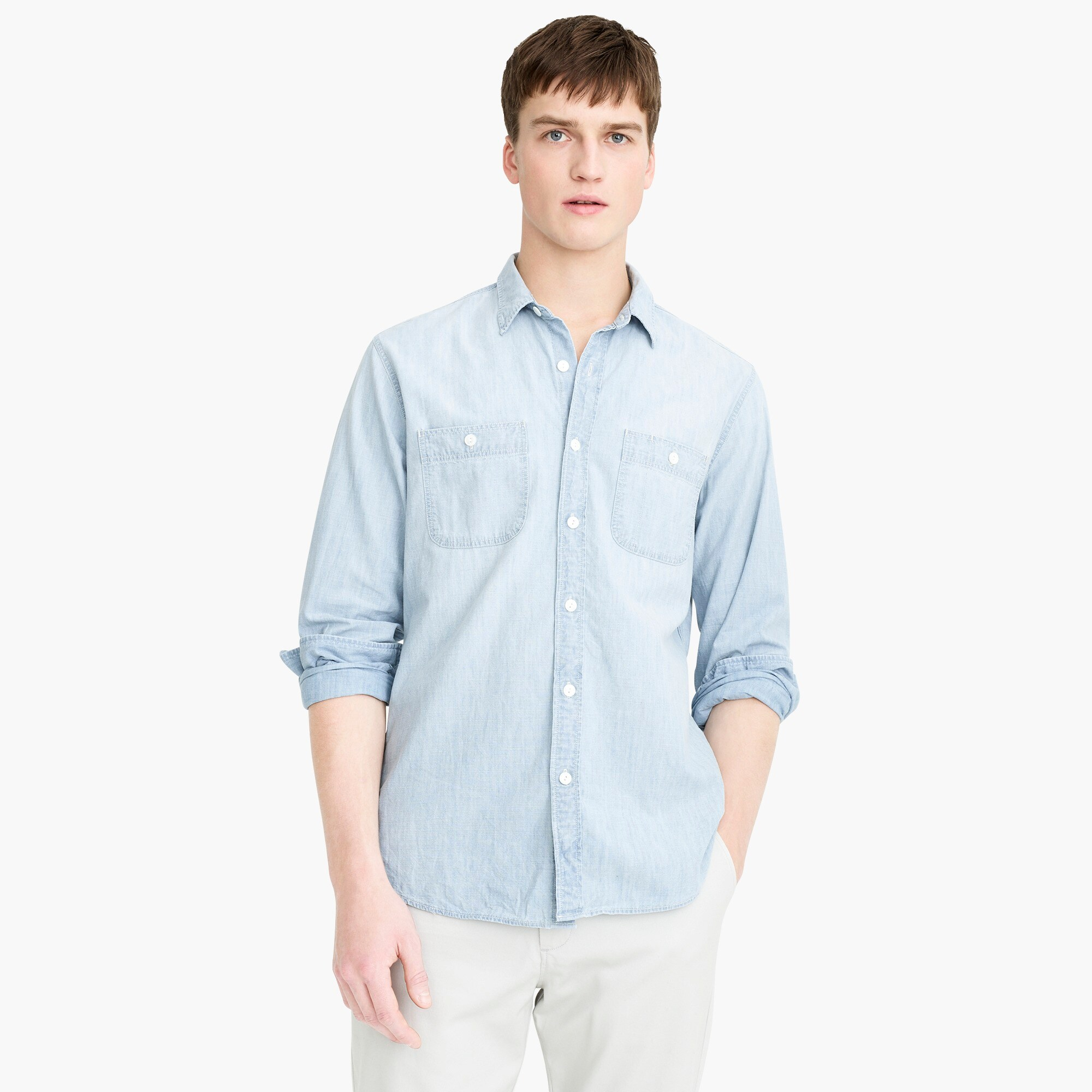 mens Chambray workshirt