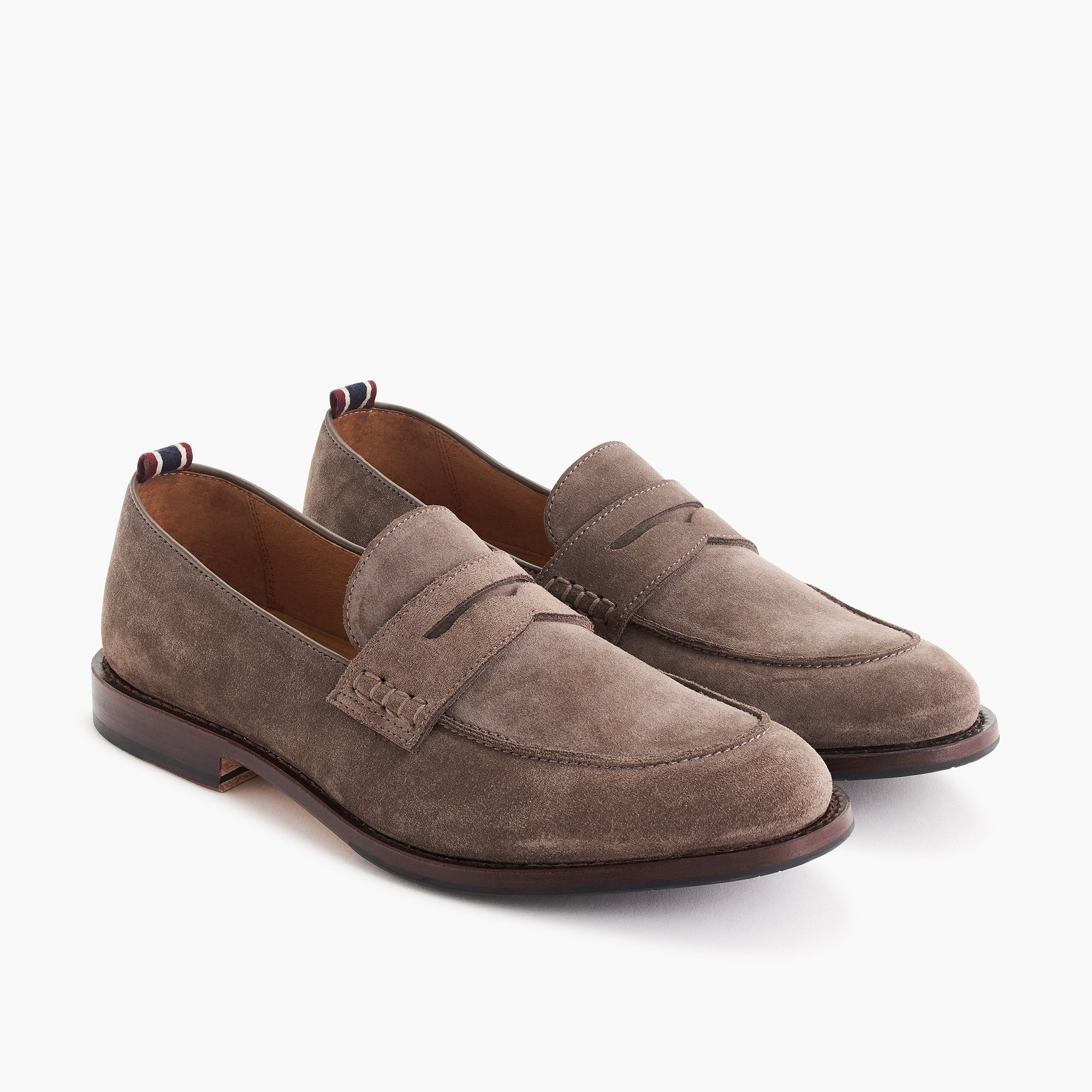 mens Oar Stripe penny loafers in Italian suede