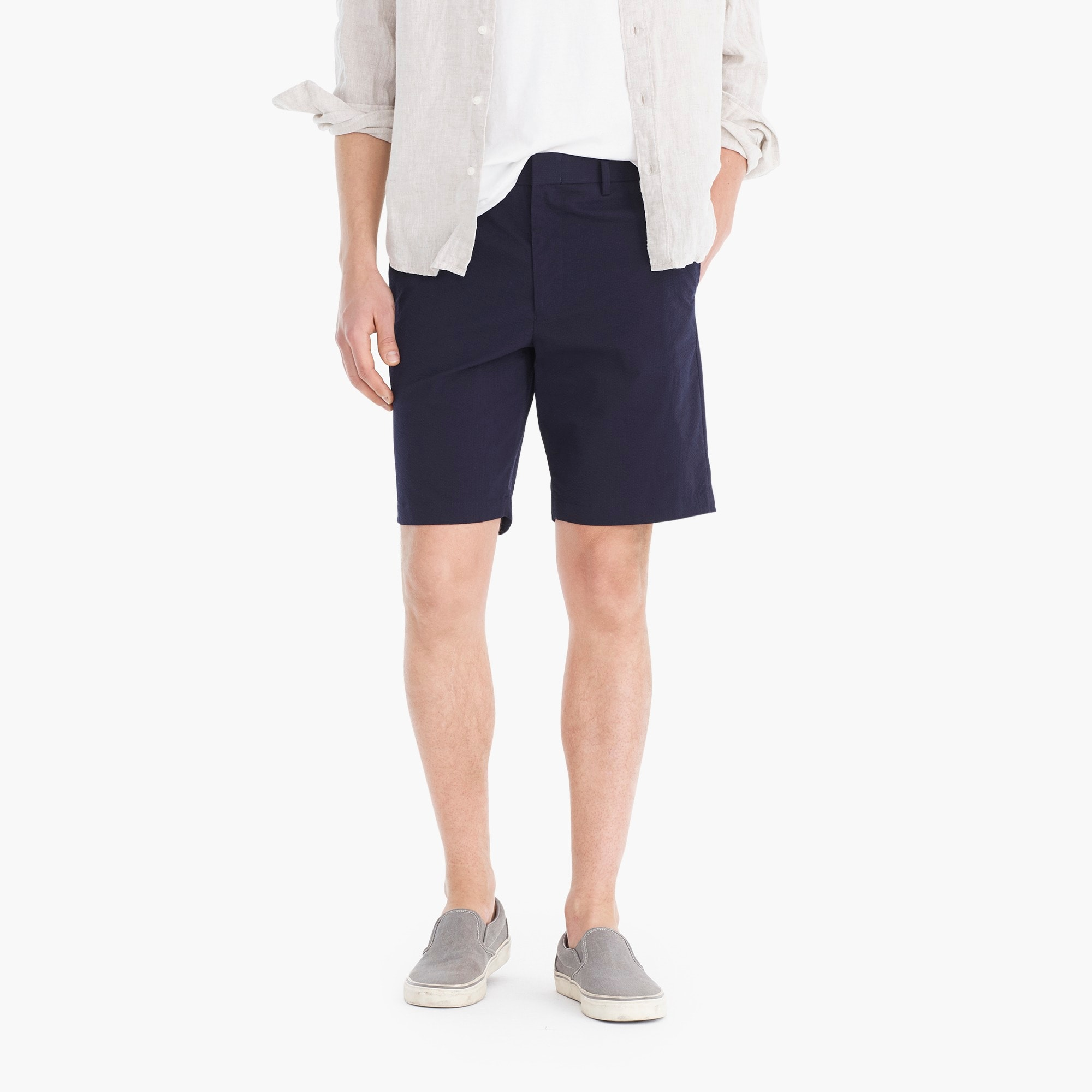 mens Seersucker short with COOLMAX® technology