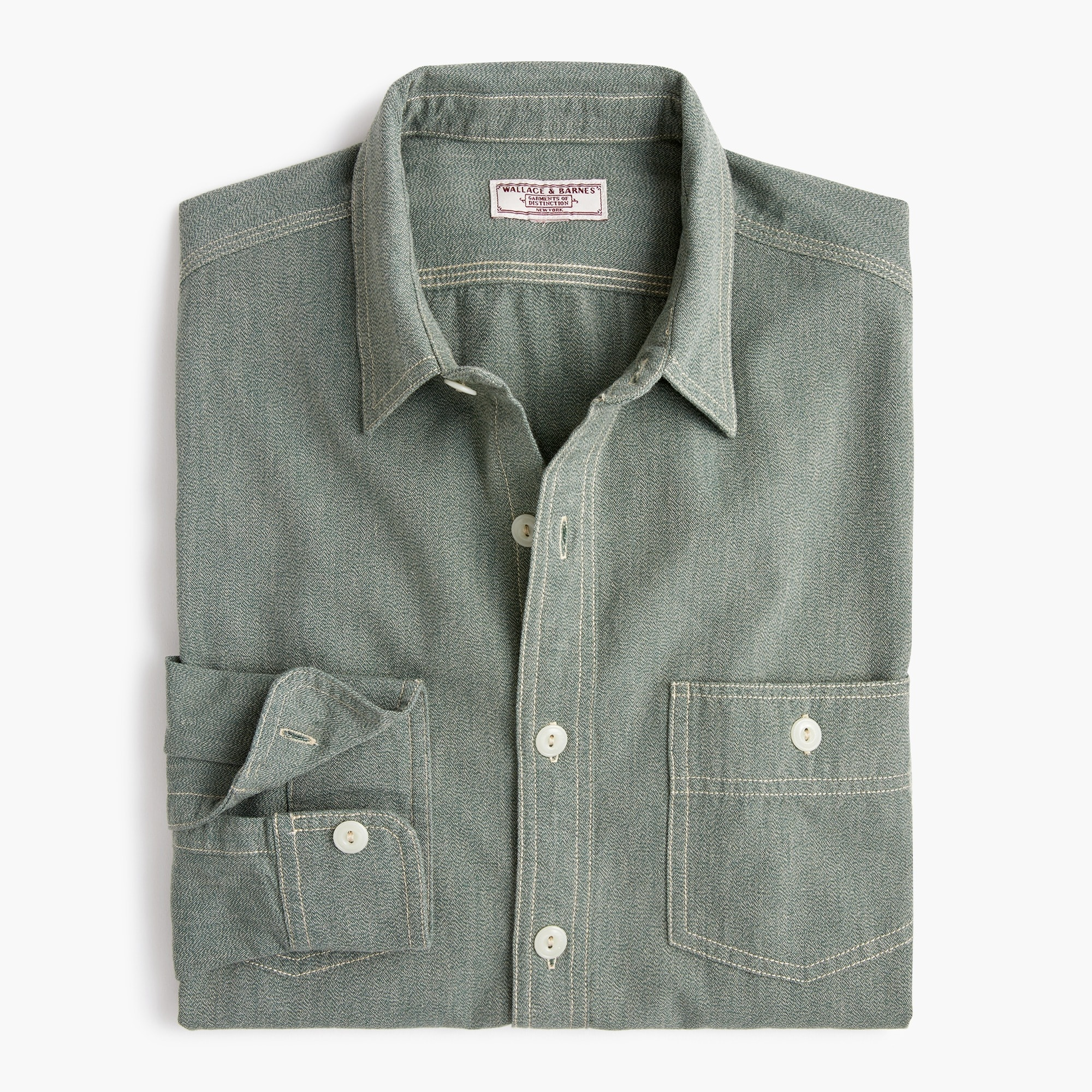 mens Wallace & Barnes workshirt in jaspé cotton