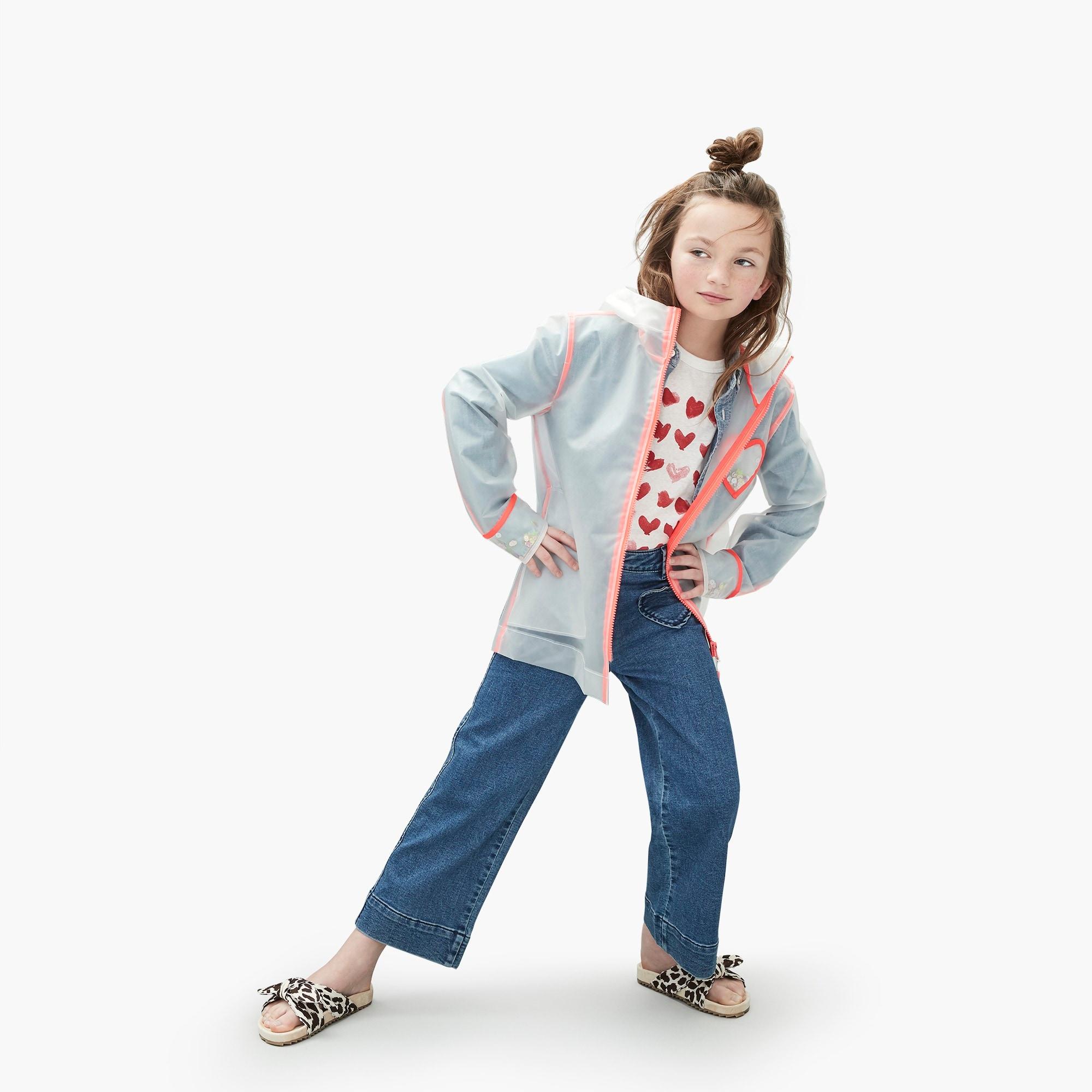 girls Girls' cropped wide-leg jean with heart pockets