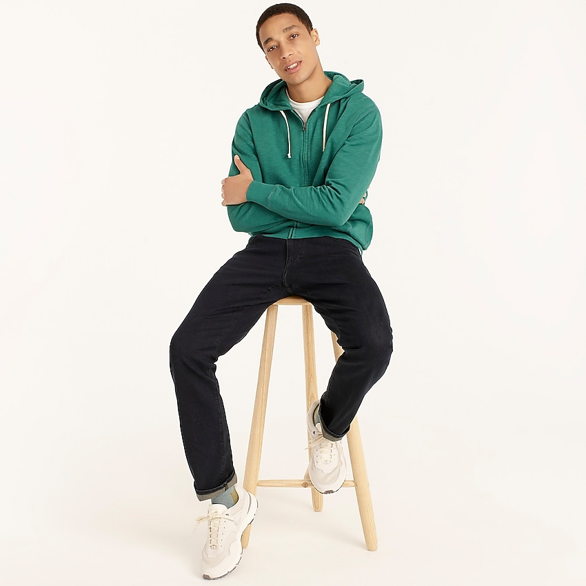 j.crew: 770™ straight-fit stretch jean in deep lake wash for men, right side, view zoomed
