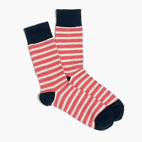 factory mens Tri-color striped socks