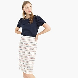 No 2. Pencil® skirt in white multicolor tweed
