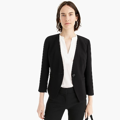 95d6e1d32126 womens Collarless fitted blazer in 365 crepe
