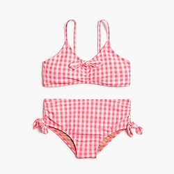 Girls' bikini set in gingham
