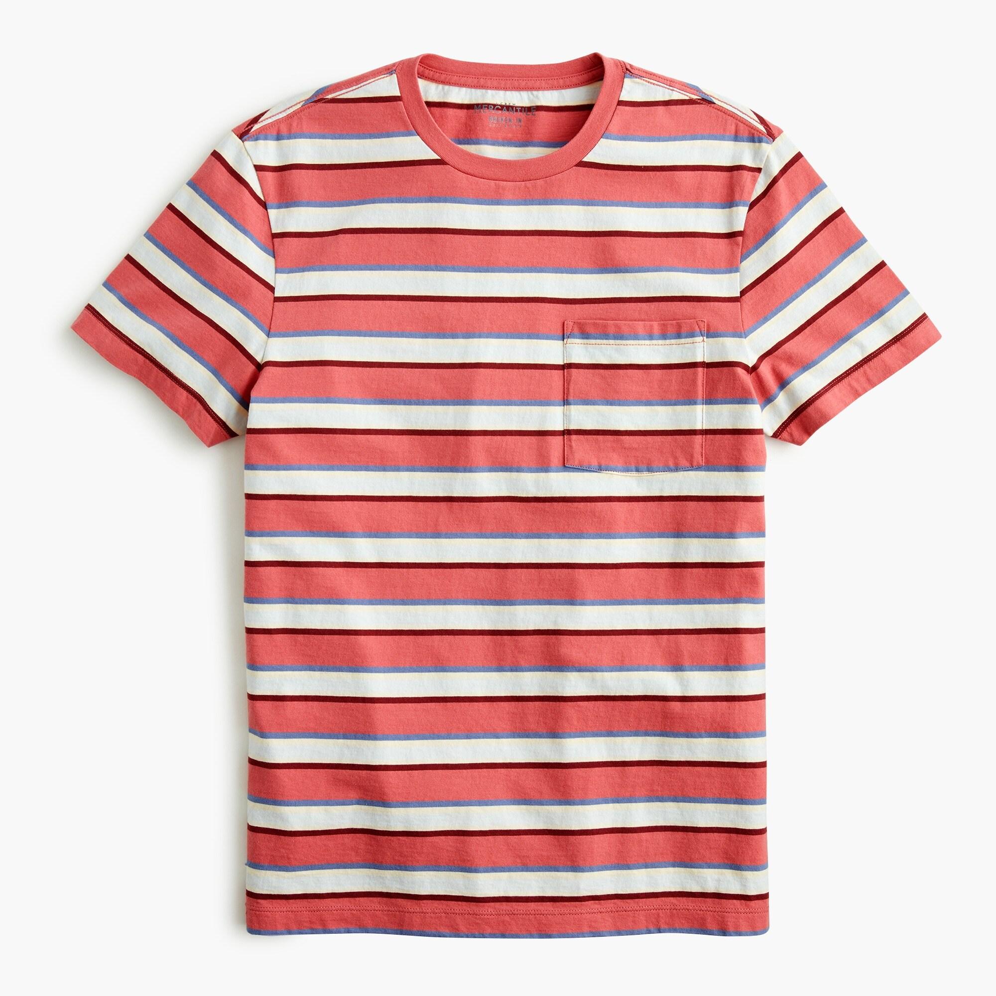 mens Essential pocket T-shirt in stripe