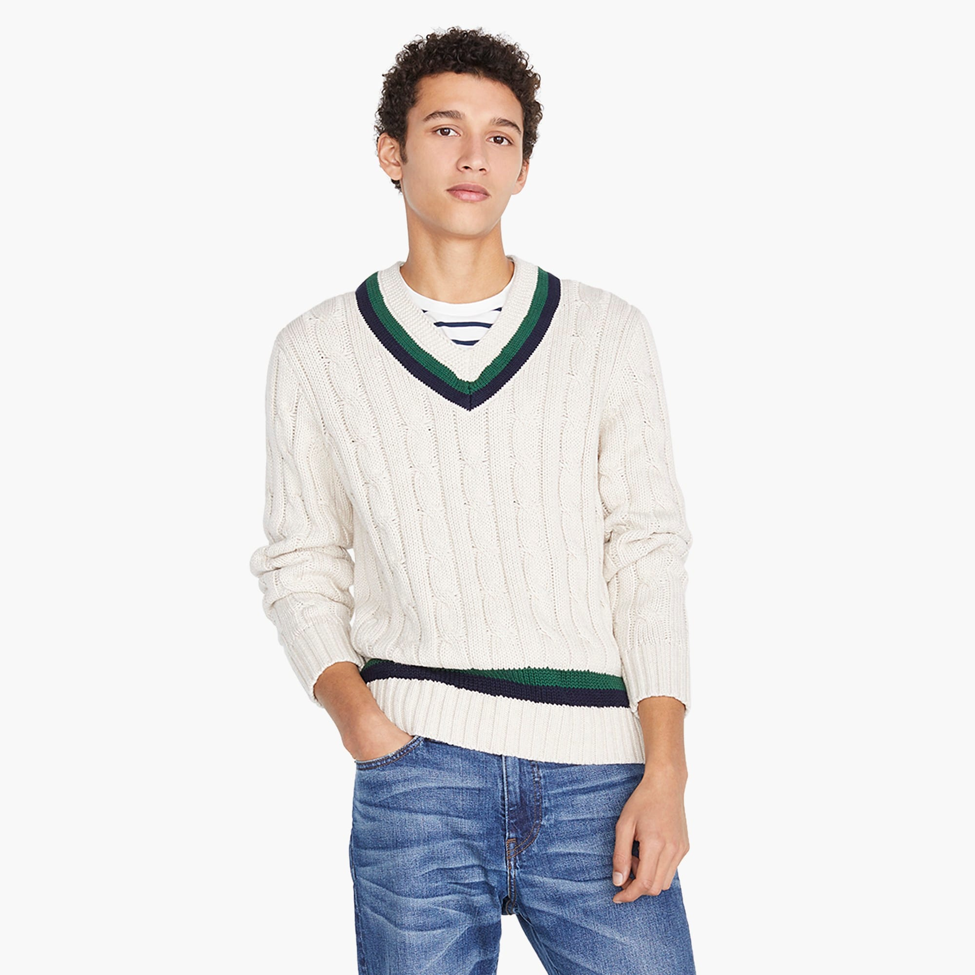mens J.Crew Always cotton tennis sweater