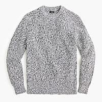 Marled cotton shaker-stitch crewneck sweater