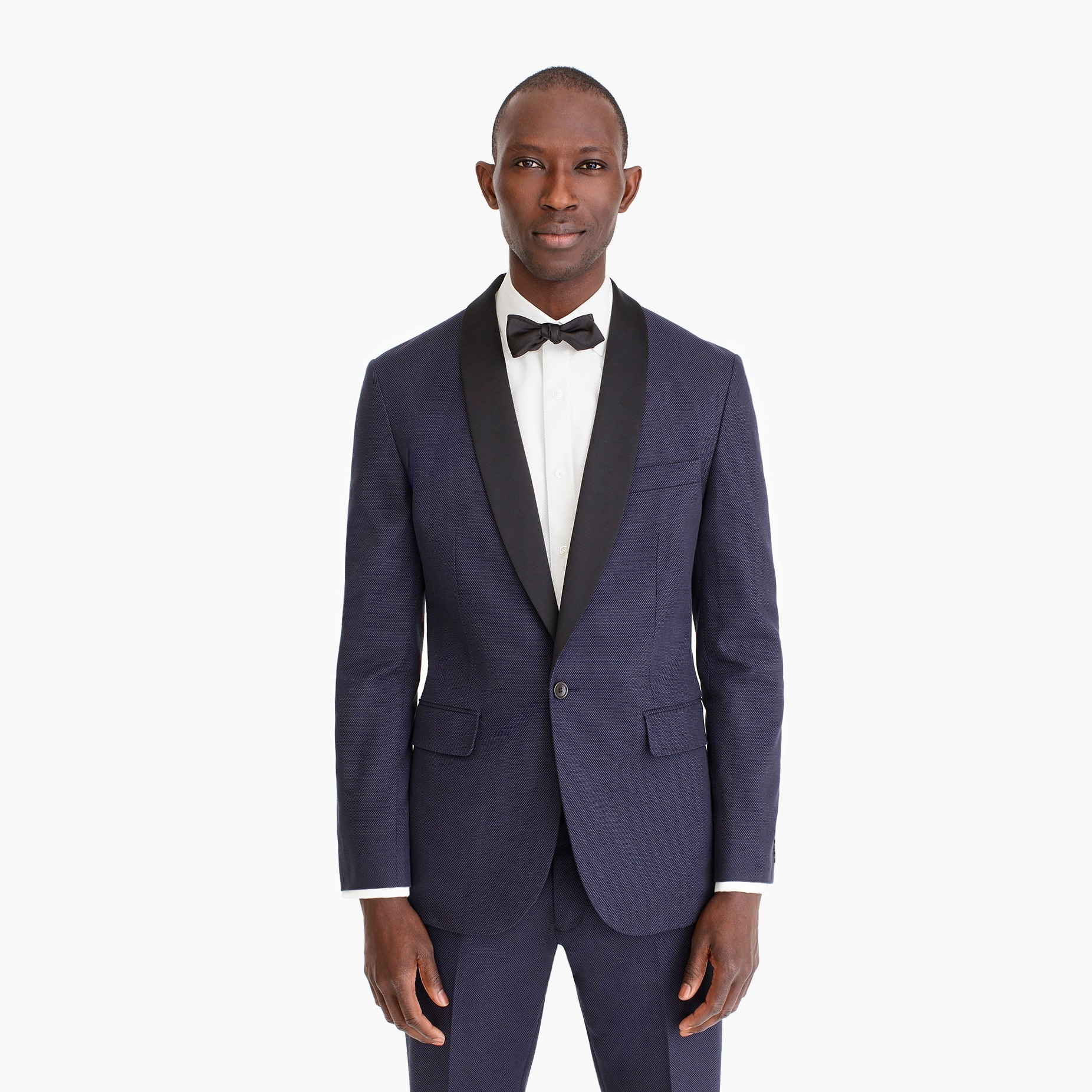 mens Ludlow Slim-fit unstructured tuxedo jacket in cotton dobby