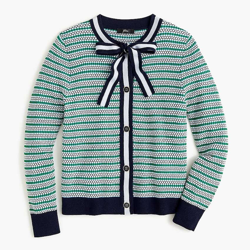j.crew: textured lady cardigan for women, right side, view zoomed