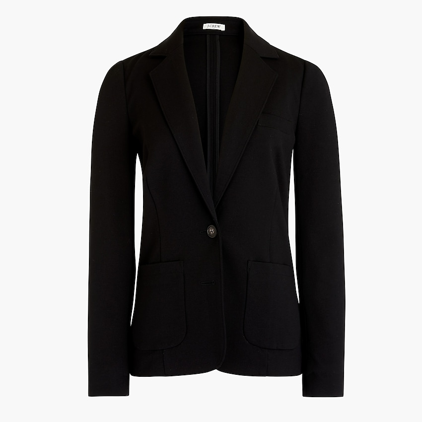 j.crew factory: ponte work blazer for women, right side, view zoomed