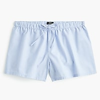 Sleep shorts in end-on-end cotton