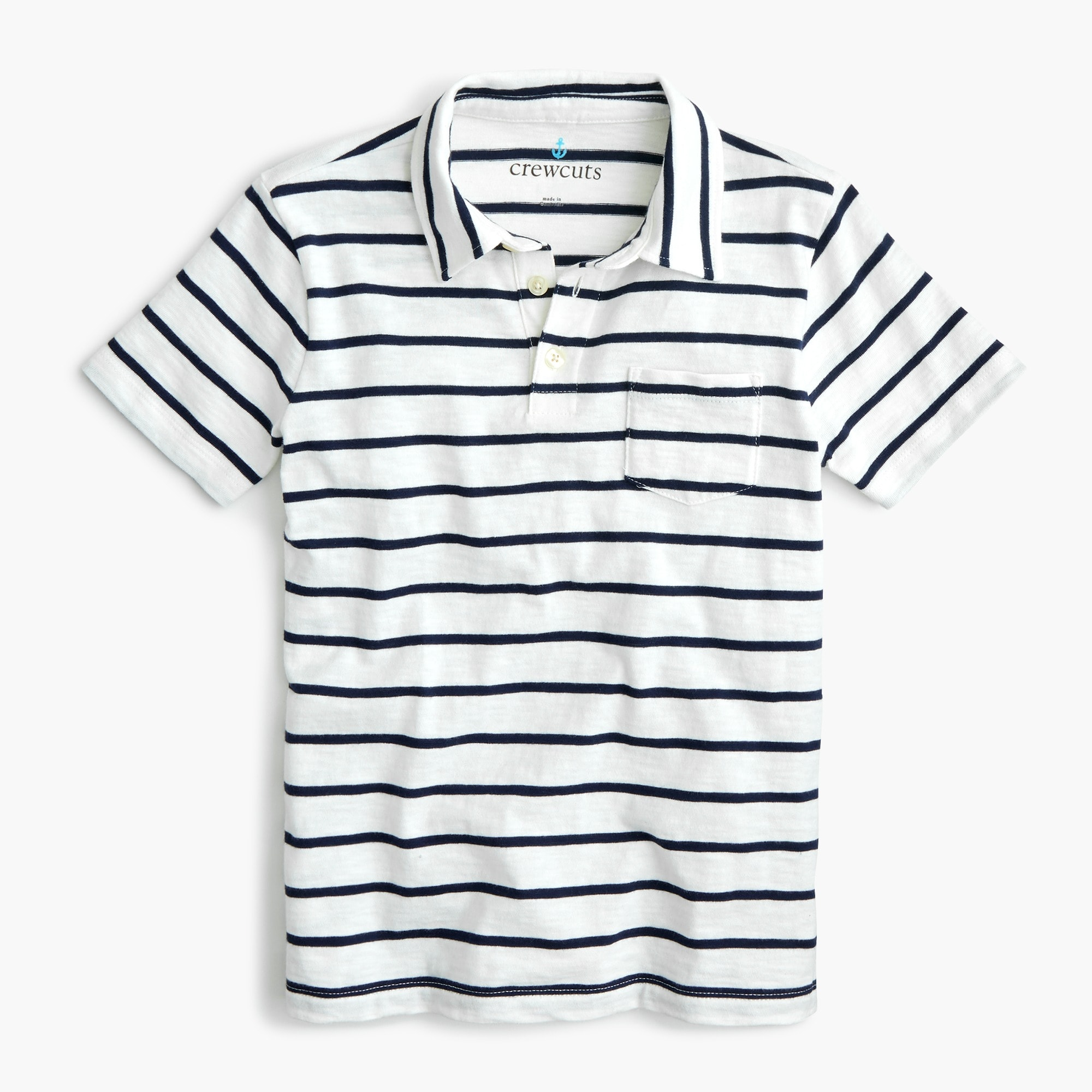boys Boys' cotton polo shirt in navy stripe
