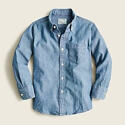 Boys' chambray button-down