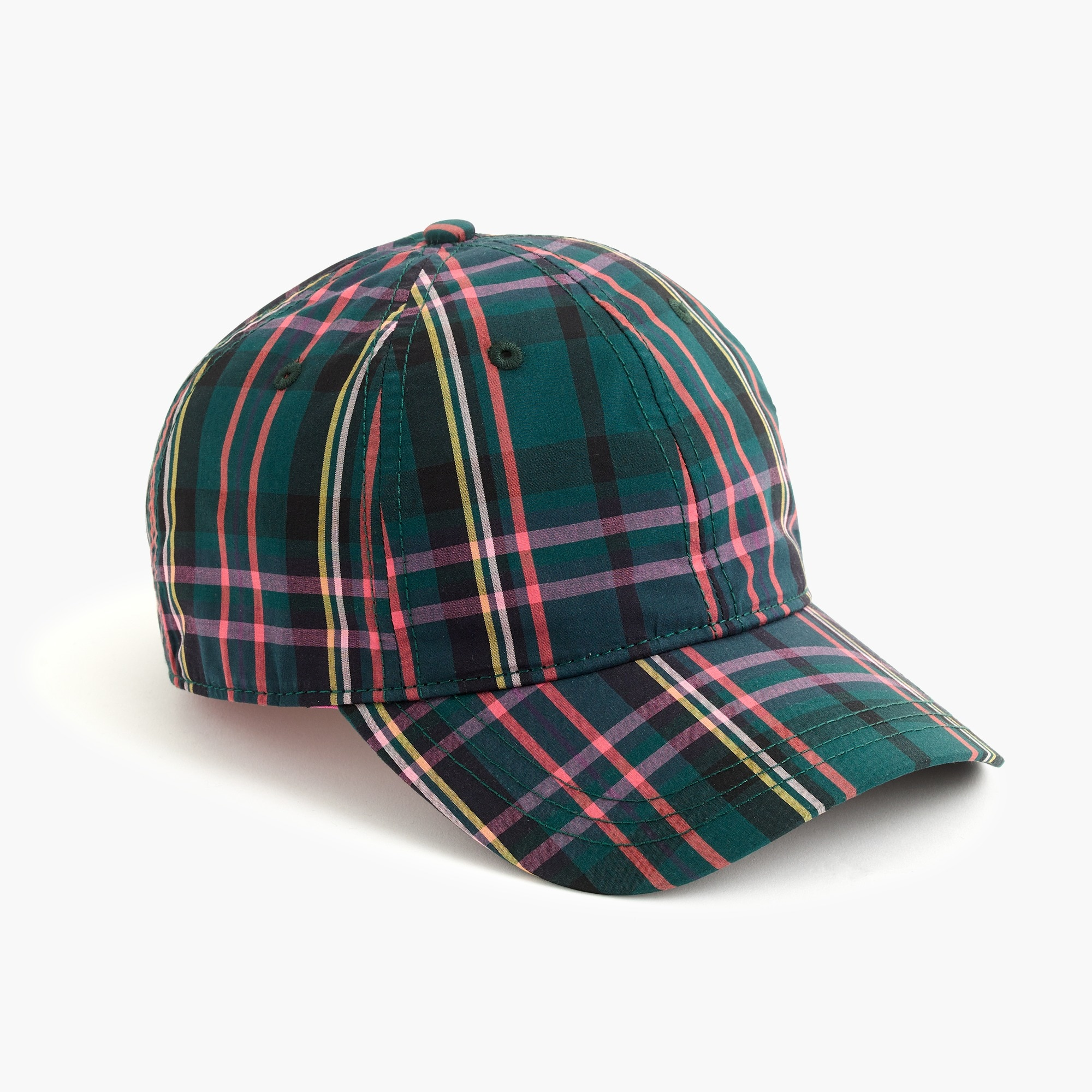 womens Baseball cap in J.Crew Signature Tartan