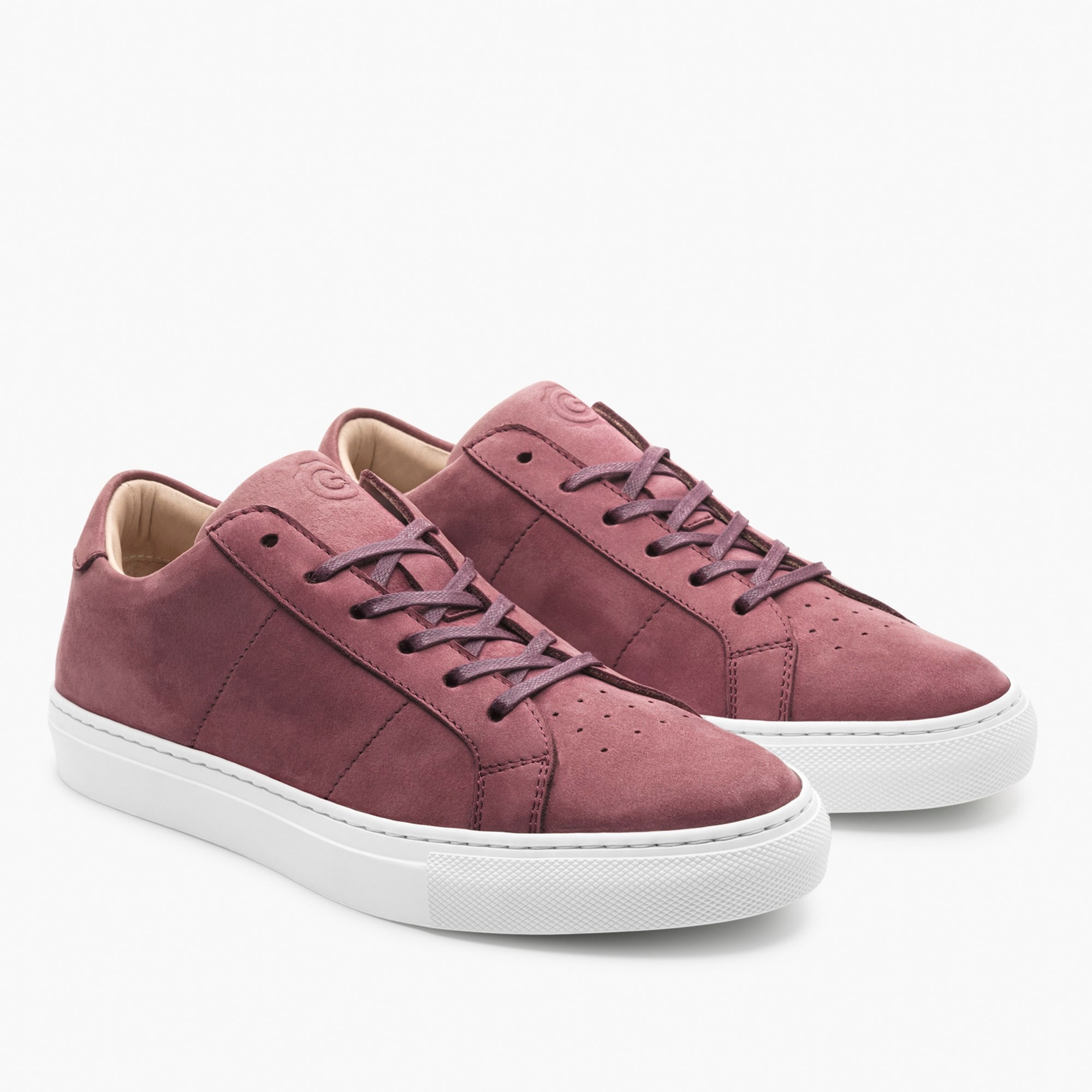 womens GREATS® Royale sneakers in plum nubuck