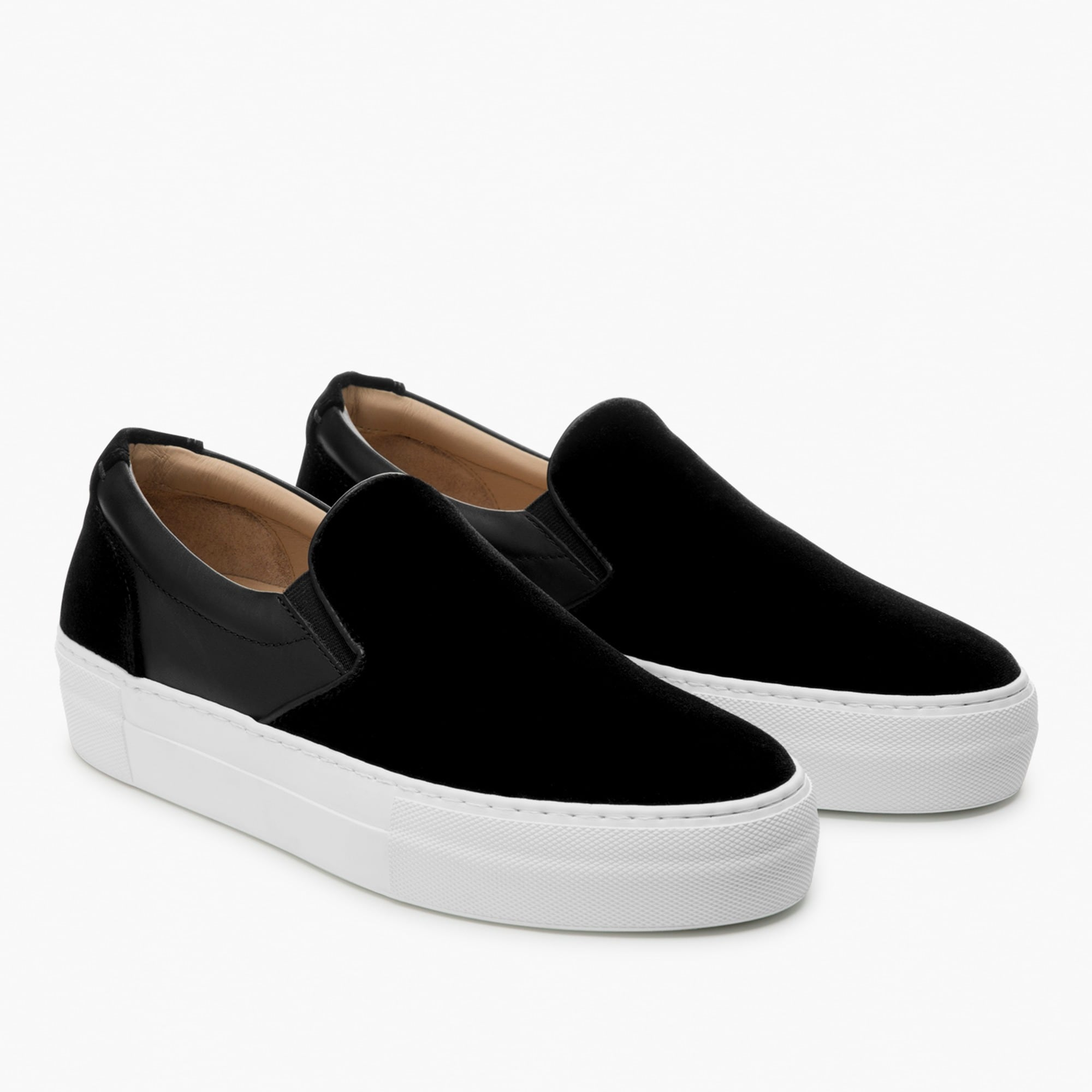 womens GREATS® Wooster slip-on sneakers in black velvet