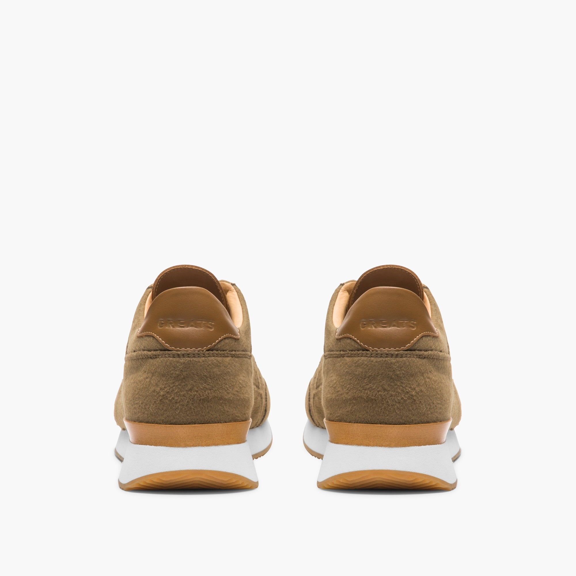 Image 2 for GREATS® Pronto sneakers in camel wool