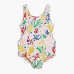 Girls' tie-back one-piece bathing suit