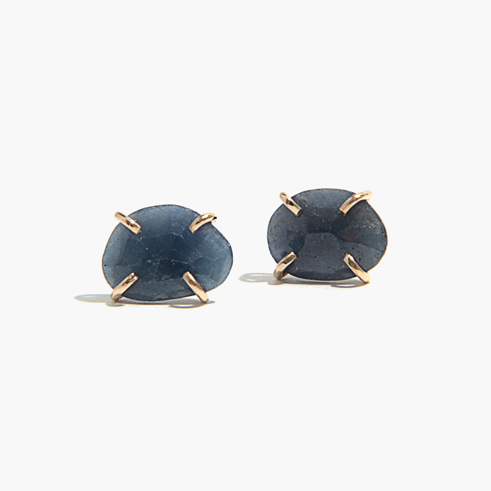 womens Melissa Joy Manning® prong set blue sapphire stud earrings