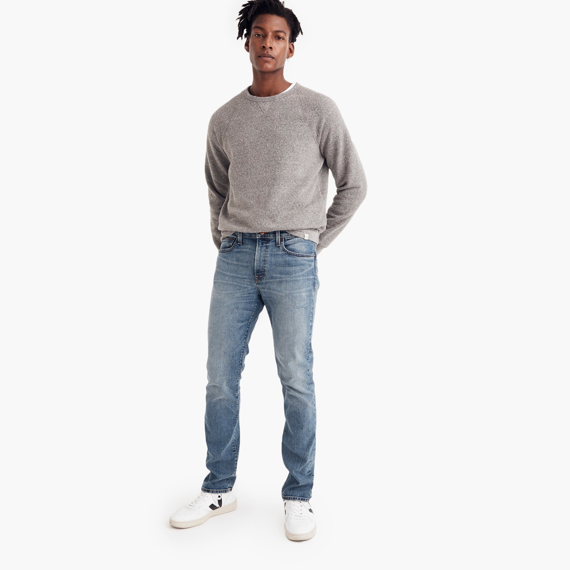 mens Madewell slim jeans in light fade
