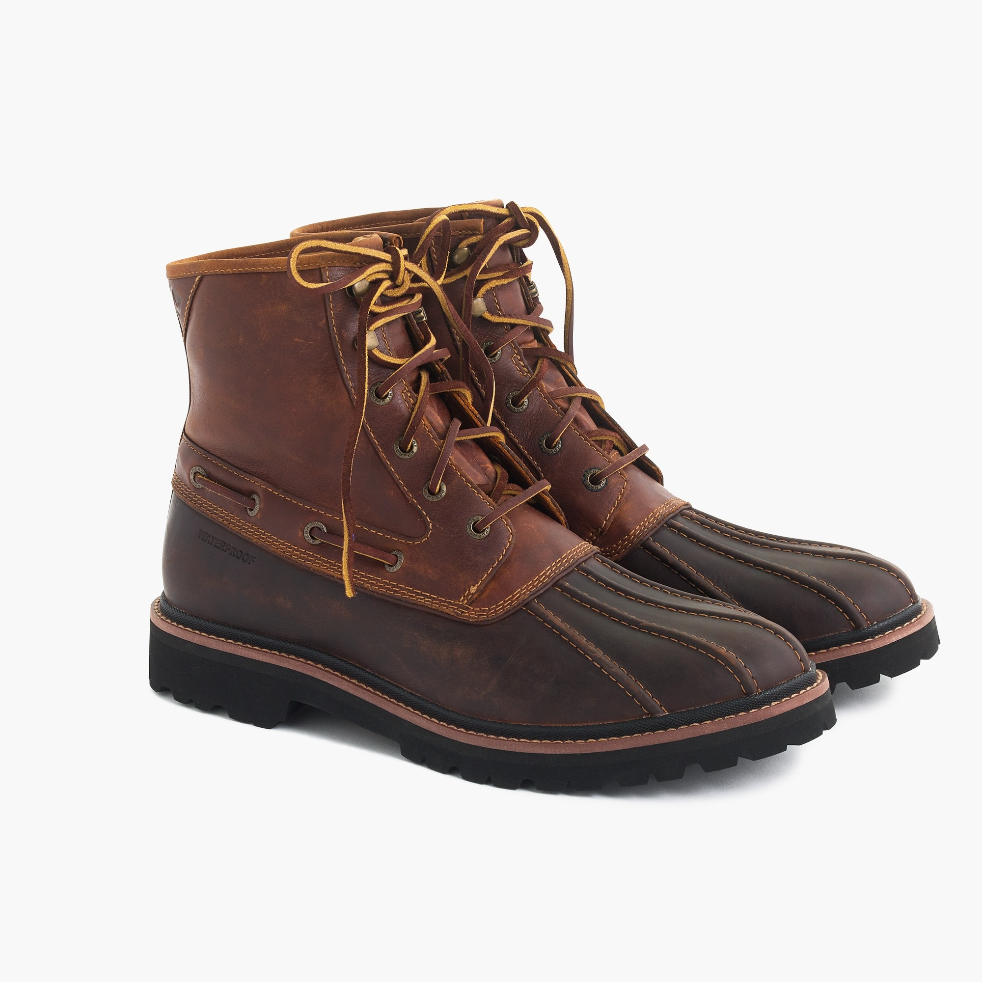 mens Sperry® Gold Cup lug duck boots