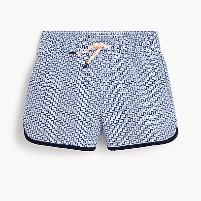 bc489ea4fa boys Kids' pool short in maze print with UPF ...