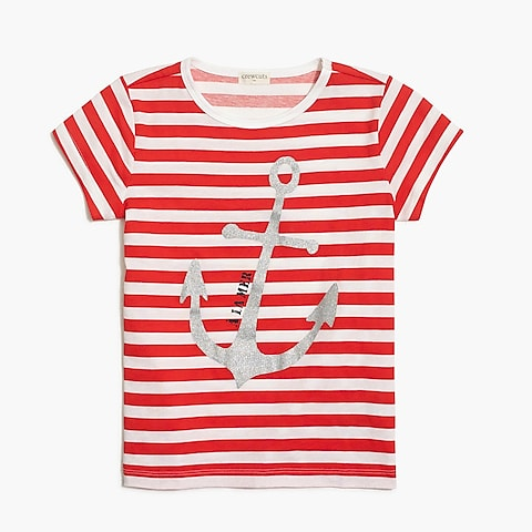 factory girls Girls' anchor graphic T-shirt
