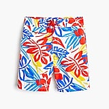 Boys' board short in graphic palms with UPF 50+