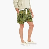 Dock short in raining palm print