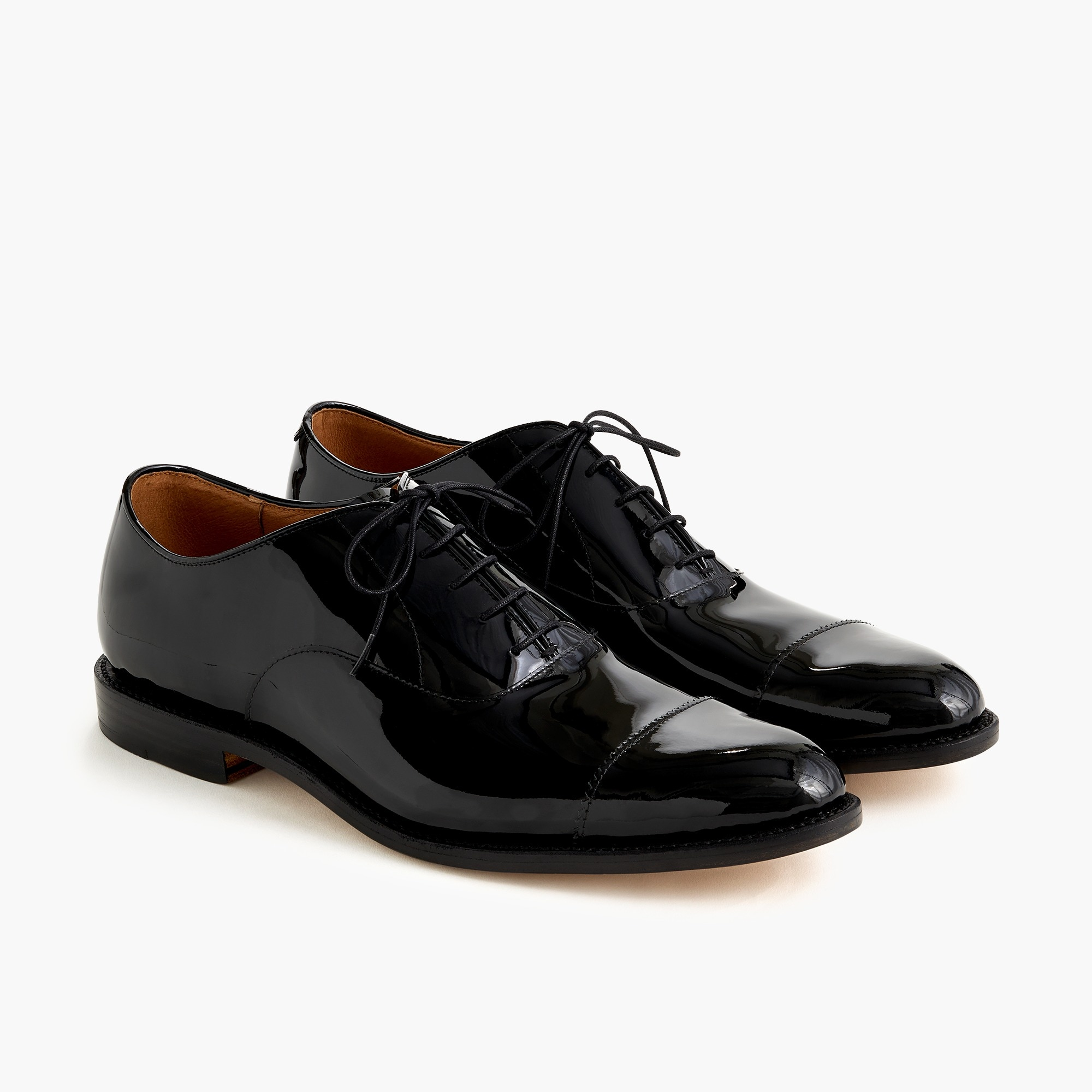 mens Cap-toe oxfords in patent leather