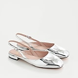 Sally slingbacks in specchio leather