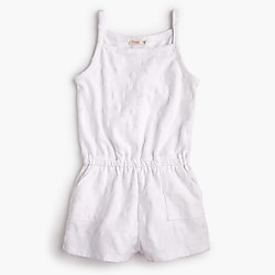 Girls' terry romper in stars