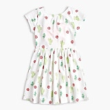 Girls' bow-back dress in desert flower